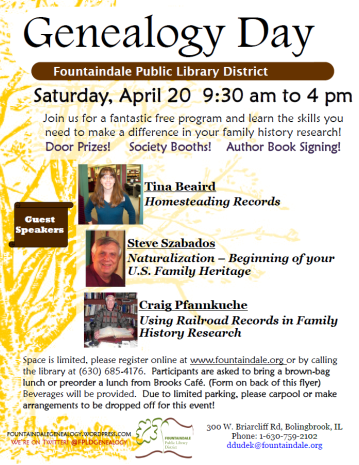 genealogy day flyer pic