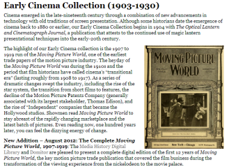 Early Cinema Collection