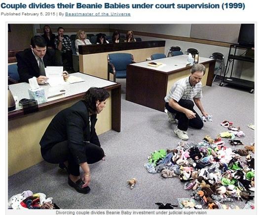 beanie baby divorce