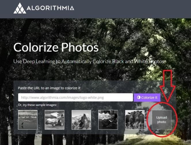 colorize photo upload