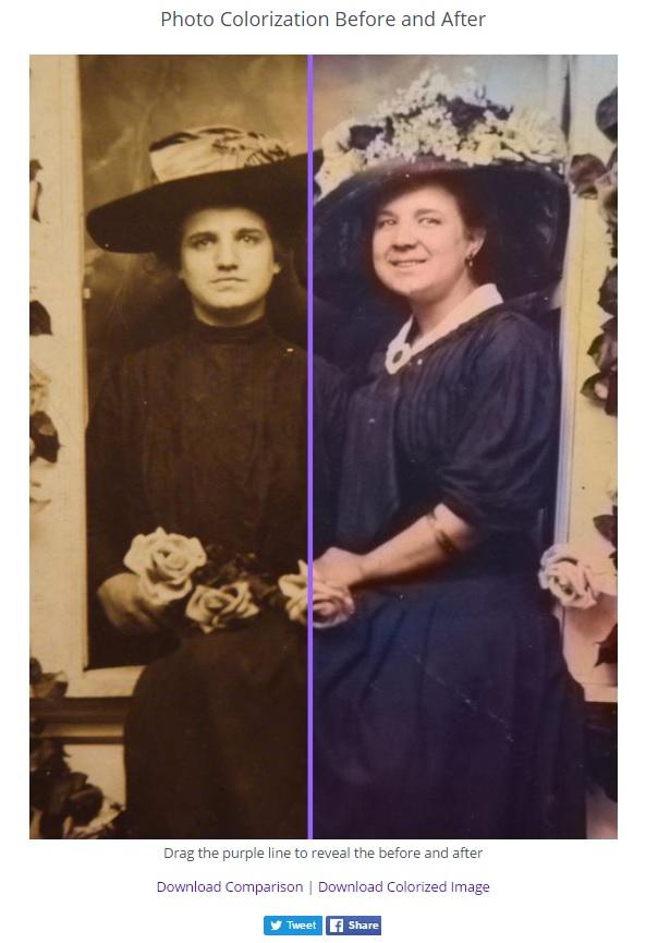 colorized photo comparison