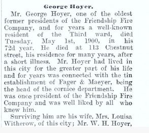 hoyer obituary
