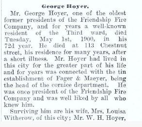 hoyer obituary