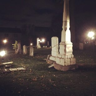 bordman cemetery night