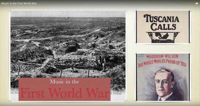 Music in the First World War Title Slide