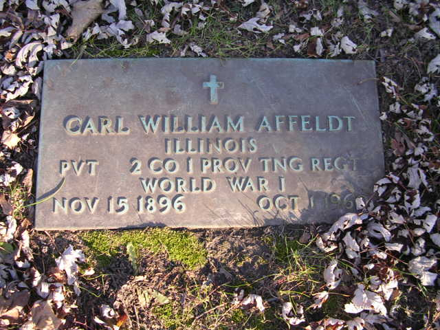 Carl Affeldt headstone