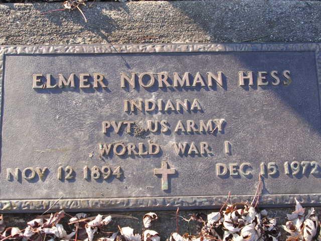 Elmer Hess Headstone
