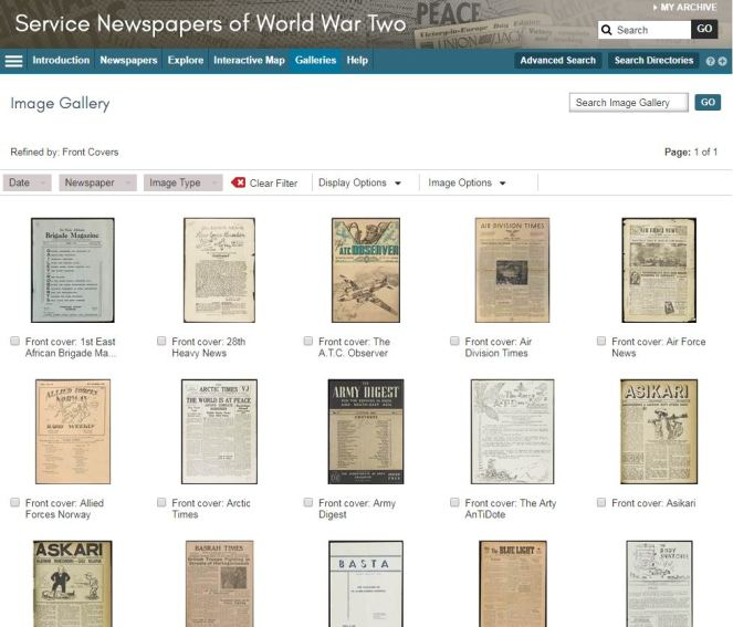 newspapers of WWII