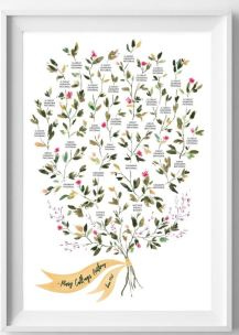 etsy flowers family tree