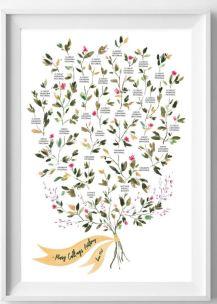 etsy flowers family tree